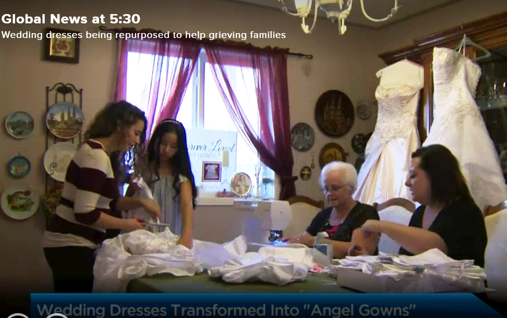 Sherie And Her Crew From Forever Loved Angel Gowns Were Interviewed Today By Minna Rhee Of Global TV For A Spot On Their News Show
